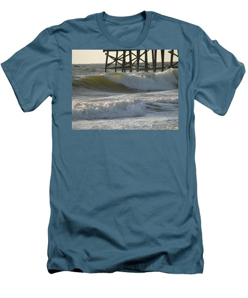Pier Pressure Men's T-Shirt (Slim Fit) by Ellen Meakin