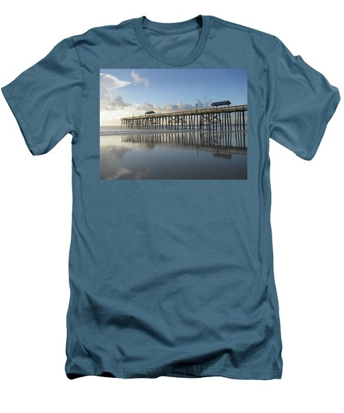 Pier Reflection Men's T-Shirt (Slim Fit) by Ellen Meakin