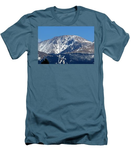 Pikes Peak Close-up Men's T-Shirt (Athletic Fit)
