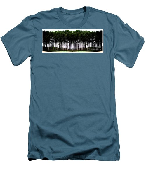 Pine Forest Men's T-Shirt (Slim Fit) by Marcia Lee Jones