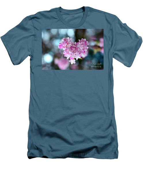 Pink Spring Heart Men's T-Shirt (Slim Fit) by Sabine Jacobs
