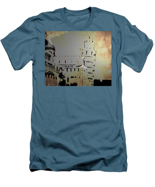 Men's T-Shirt (Slim Fit) featuring the digital art Pisa Italy 1 by Brian Reaves