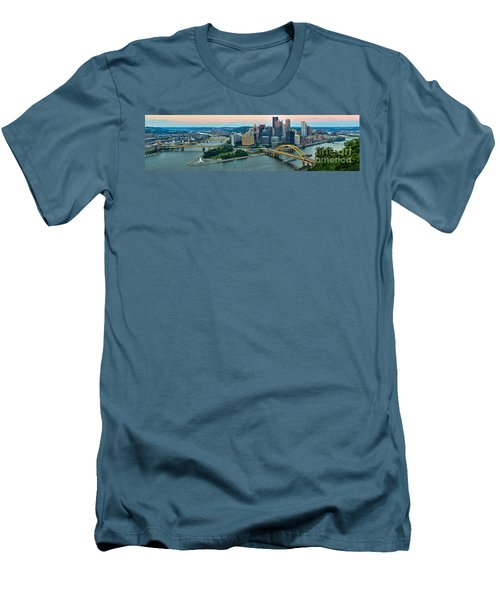 Pittsburgh Panorama At Dusk Men's T-Shirt (Athletic Fit)