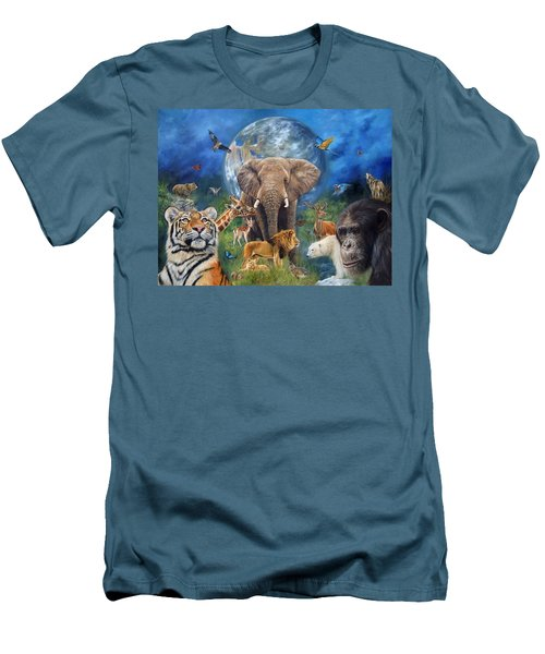 Planet Earth Men's T-Shirt (Slim Fit) by David Stribbling