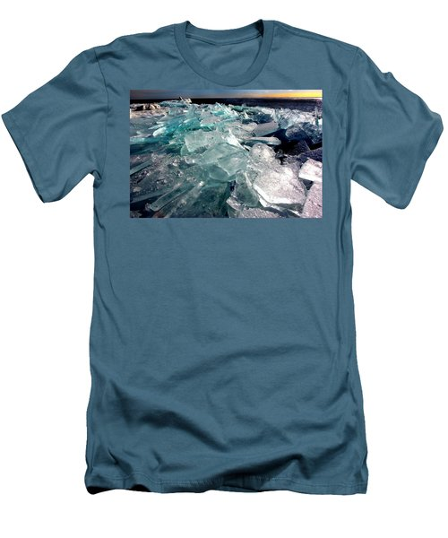 Plate Ice  Men's T-Shirt (Slim Fit) by Amanda Stadther