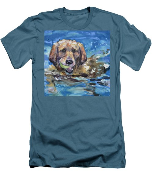Playful Retriever Men's T-Shirt (Athletic Fit)