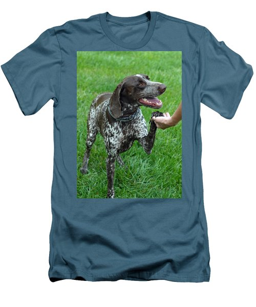 Men's T-Shirt (Slim Fit) featuring the photograph Pleased To Meet You by Lisa Phillips