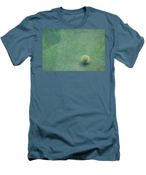 Men's T-Shirt (Slim Fit) featuring the photograph Point In The Plane by Davorin Mance