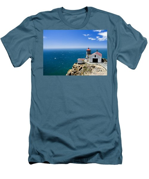 Point Reyes Lighthouse California Men's T-Shirt (Athletic Fit)