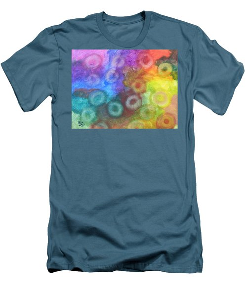 Polychromatic Rbc's Men's T-Shirt (Athletic Fit)