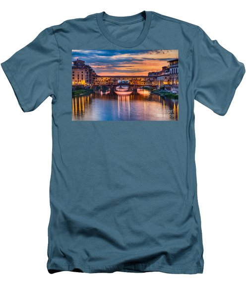 Ponte Vecchio At Sunset Men's T-Shirt (Athletic Fit)