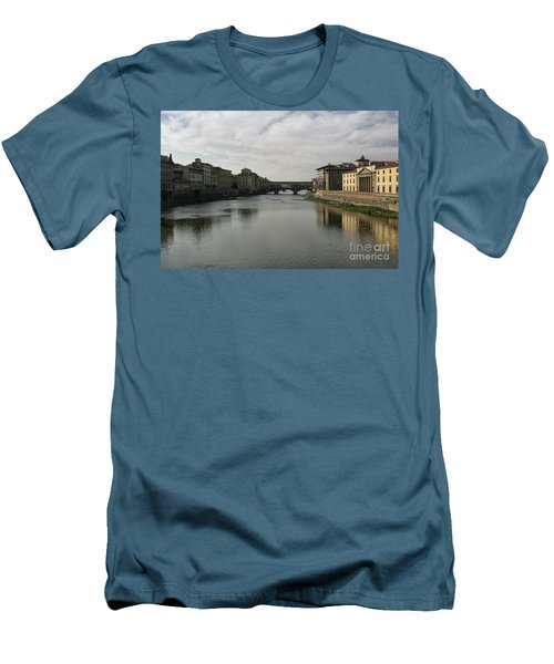 Men's T-Shirt (Slim Fit) featuring the photograph Ponte Vecchio by Belinda Greb