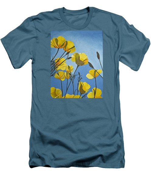 Poppies In The Sun Men's T-Shirt (Slim Fit) by Donna Blossom
