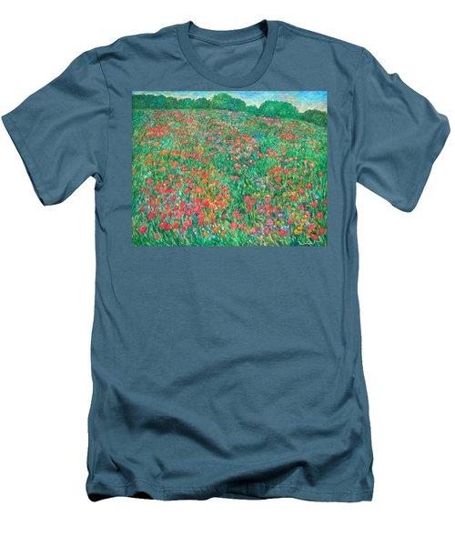 Poppy View Men's T-Shirt (Slim Fit) by Kendall Kessler