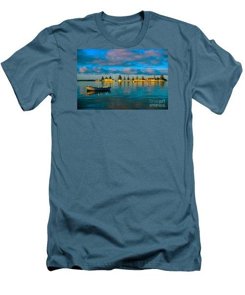 Port Albert Bay Men's T-Shirt (Slim Fit) by James  Dierker