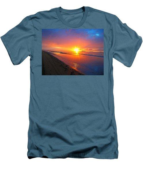 Men's T-Shirt (Slim Fit) featuring the photograph Portrush Sunset by Tara Potts