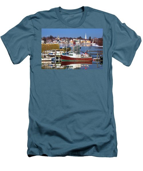 Portsmouth Lobster Boat Men's T-Shirt (Athletic Fit)
