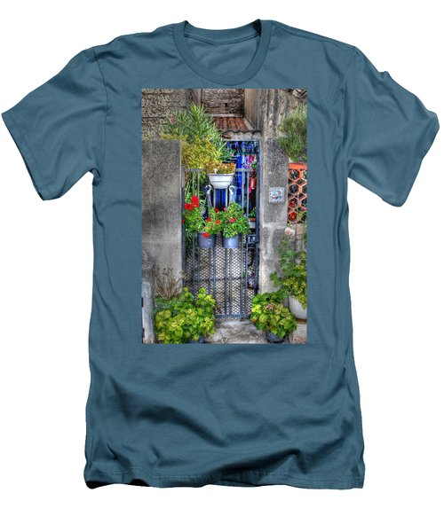 Men's T-Shirt (Slim Fit) featuring the photograph Pots Perouge France by Tom Prendergast