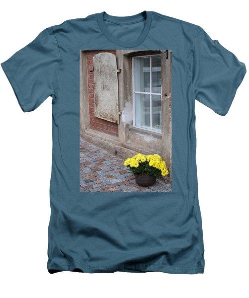 Potted Flowers  Men's T-Shirt (Slim Fit) by Richard Rosenshein