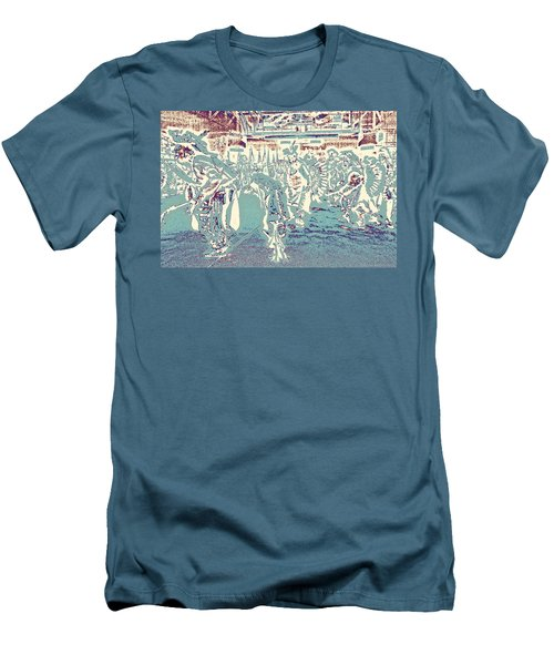 Men's T-Shirt (Slim Fit) featuring the photograph Powwow Shadows by Clarice  Lakota