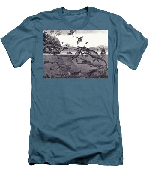 Prehistoric Animals Of The Lias Group Men's T-Shirt (Athletic Fit)