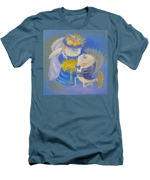 Men's T-Shirt (Slim Fit) featuring the painting Proposal by Marina Gnetetsky
