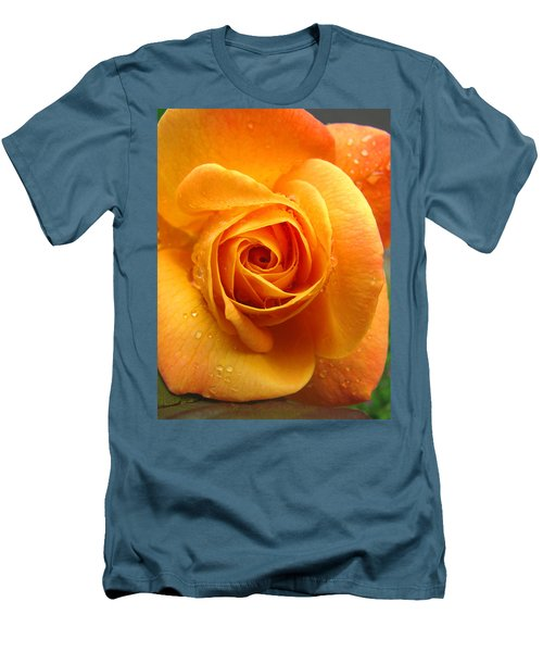 Men's T-Shirt (Slim Fit) featuring the photograph Pure Gold - Roses From The Garden by Brooks Garten Hauschild