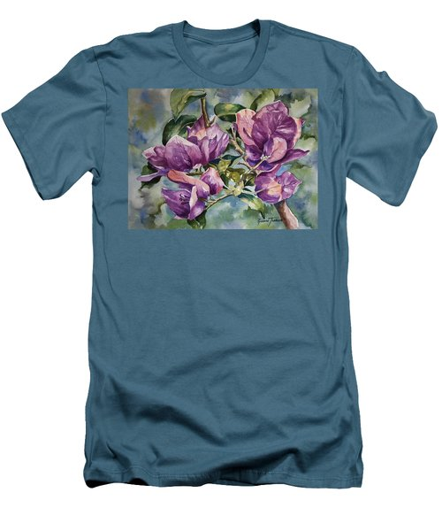Purple Beauties - Bougainvillea Men's T-Shirt (Athletic Fit)