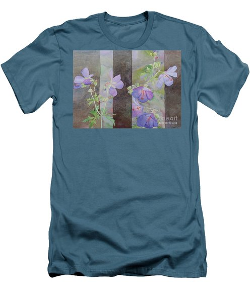 Purple Ivy Geranium Men's T-Shirt (Athletic Fit)