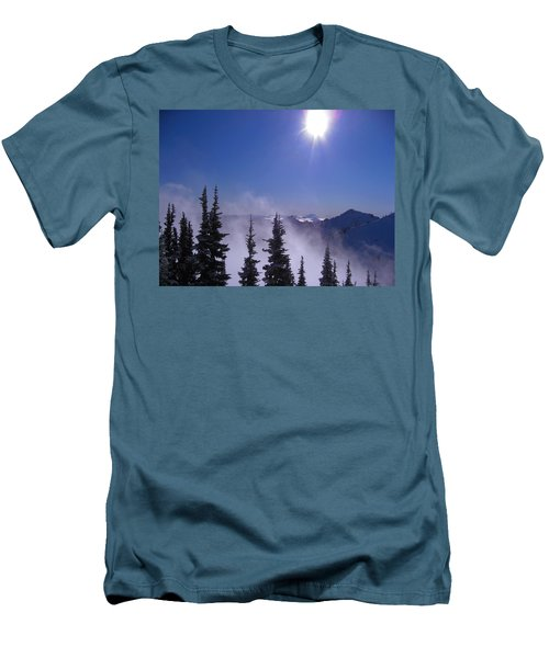 Purple Mountains Majesty Men's T-Shirt (Slim Fit) by Kym Backland