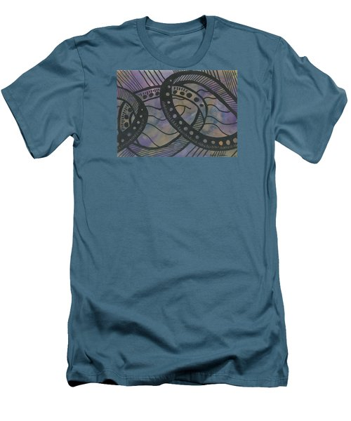 Purple Rings Men's T-Shirt (Athletic Fit)