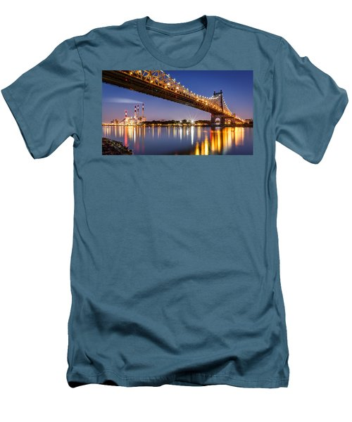 Queensboro Bridge Men's T-Shirt (Slim Fit) by Mihai Andritoiu