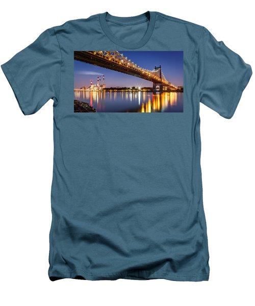 Men's T-Shirt (Slim Fit) featuring the photograph Queensboro Bridge by Mihai Andritoiu