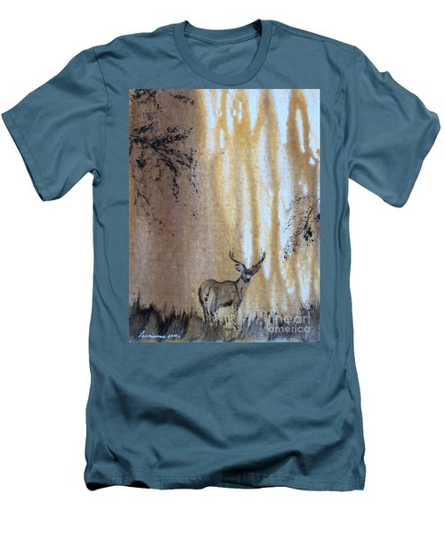 Men's T-Shirt (Slim Fit) featuring the painting Quiet Time2 by Laurianna Taylor