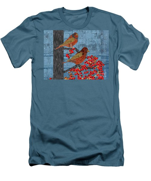 Sagebrush Sparrow Short Men's T-Shirt (Slim Fit) by Kim Prowse