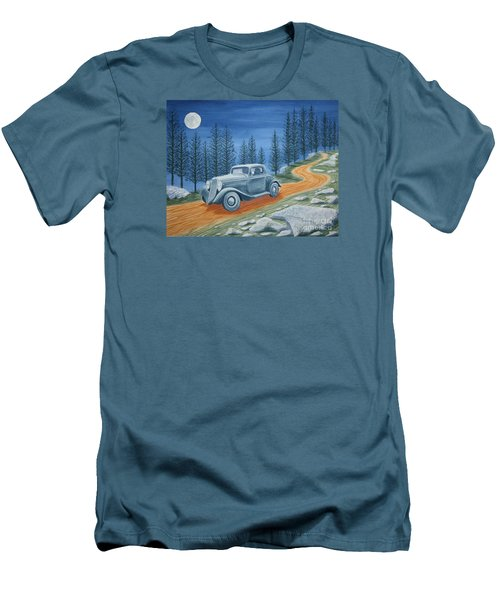 Men's T-Shirt (Slim Fit) featuring the painting Racing Was Born In North Carolina by Stacy C Bottoms