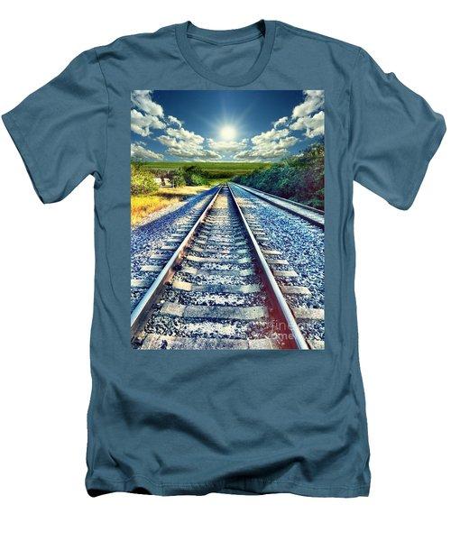 Railroad To Heaven Men's T-Shirt (Slim Fit) by Carlos Avila