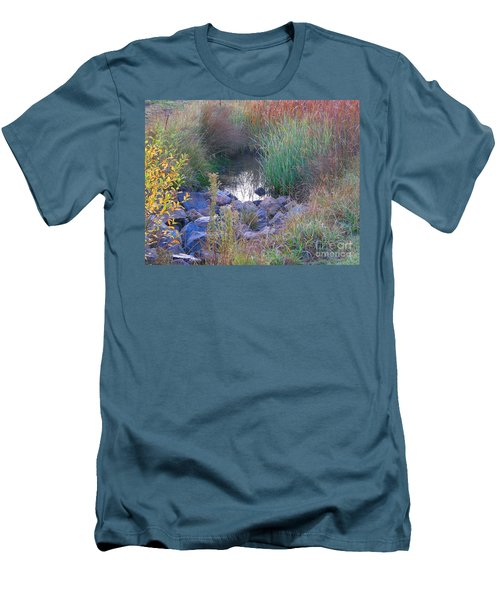 Rainbow Pond Men's T-Shirt (Athletic Fit)