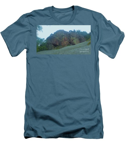 Men's T-Shirt (Slim Fit) featuring the photograph Rainbow Rock by John Williams