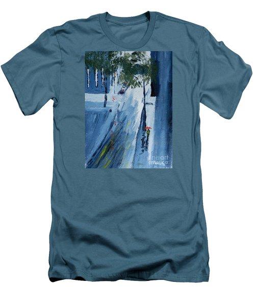 Raining Again Men's T-Shirt (Slim Fit) by Pamela  Meredith