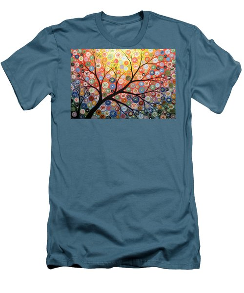 Reaching For The Light Men's T-Shirt (Slim Fit) by Amy Giacomelli