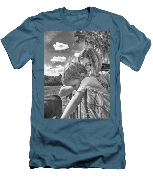 Men's T-Shirt (Slim Fit) featuring the photograph Reaching by Howard Salmon
