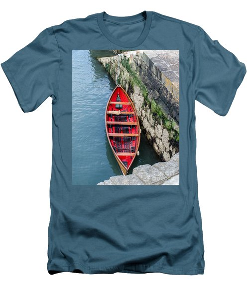 Red Canoe Men's T-Shirt (Slim Fit) by Mary Carol Story