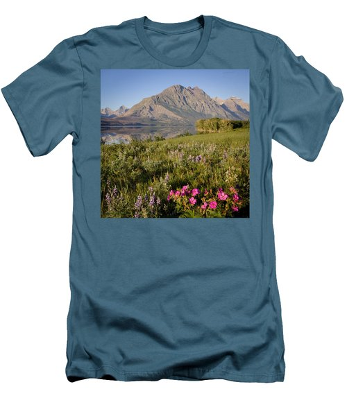Men's T-Shirt (Slim Fit) featuring the photograph Red Eagle Mountain by Jack Bell