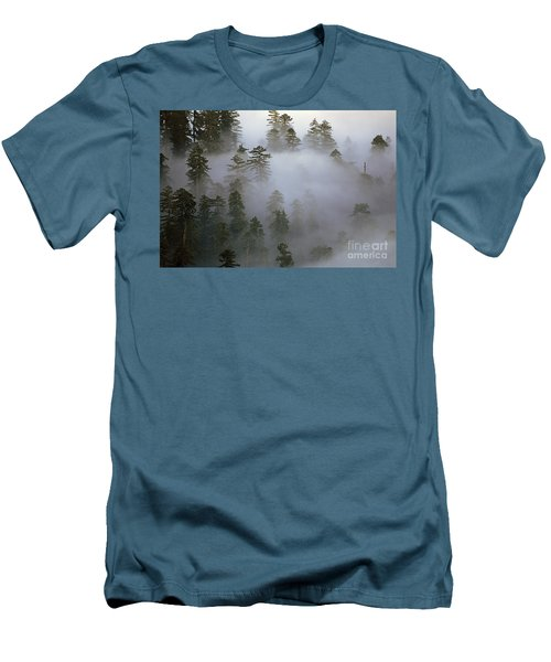 Redwood Creek Overlook With Giant Redwoods  Men's T-Shirt (Athletic Fit)