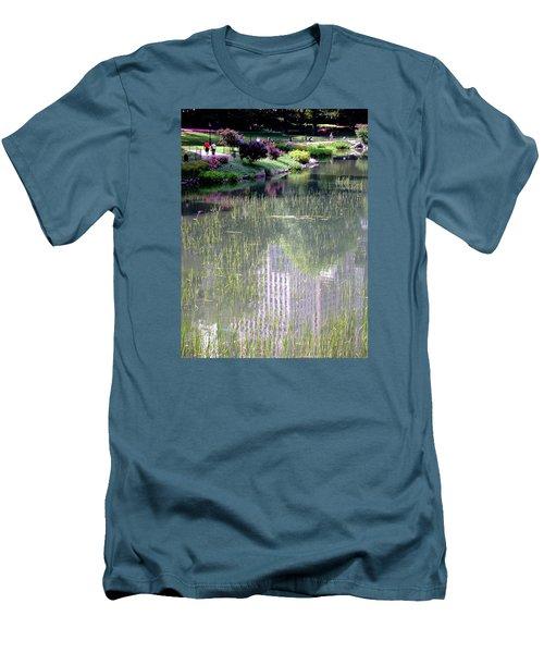 Reflection And Movement Men's T-Shirt (Slim Fit) by Menachem Ganon