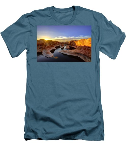 Reflection Canyon Sunrise Men's T-Shirt (Slim Fit) by Dustin  LeFevre