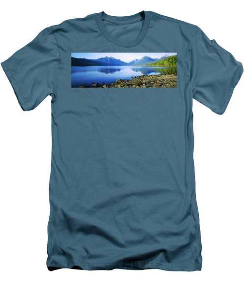 Reflection Of Rocks In A Lake, Mcdonald Men's T-Shirt (Athletic Fit)