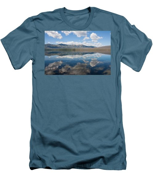 Men's T-Shirt (Slim Fit) featuring the photograph Reflections At Glacier National Park by John M Bailey