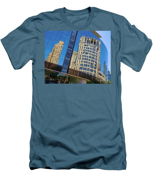 Men's T-Shirt (Slim Fit) featuring the photograph Reflections In The Rolex Bldg. by Robert ONeil